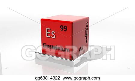 Drawing Einsteinium 3d Chemical Element Of The Periodic Table