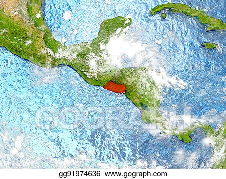 Stock Illustrations - El salvador on map with clouds. Stock ... on uruguay map, nicaragua map, brazil map, buenos aires map, passo fundo map, taiohae map, santiago map, honduras map, lima map, peruana map, mexico map, caracas map, central america map, south america map, sert map, costa rica map, the landing map, kusti map, world map, bage map,