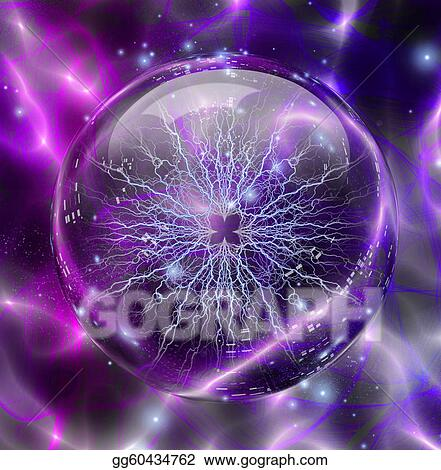 Drawing Electric Enclosed In Sphere Clipart Drawing Gg60434762