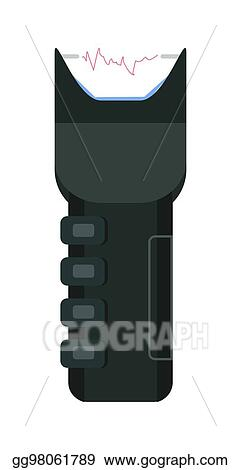 Vector Art - Electric shocker icon of strike stunning device