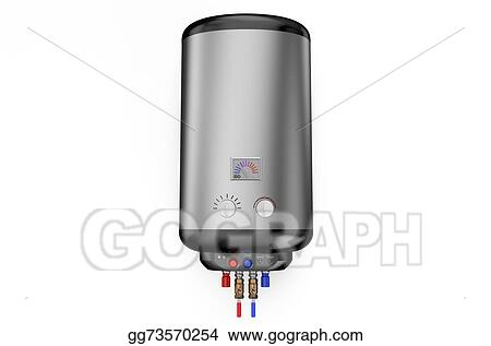 Stock Illustration - Electric silver boiler, water heater 1. Clipart ...