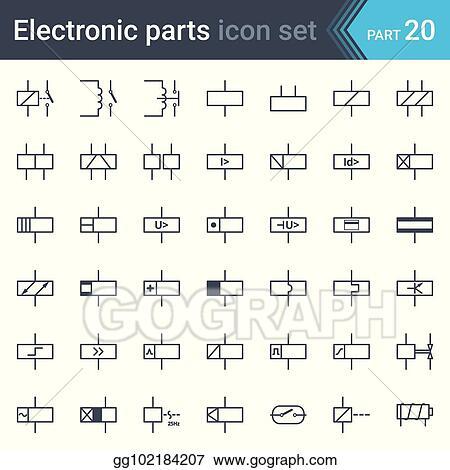 Miraculous Vector Clipart Electric Symbols Set Of Relays And Electromagnets Wiring Cloud Aboleophagdienstapotheekhoekschewaardnl