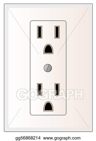 drawing electrical power outlet clipart drawing gg56868214 gograph rh gograph com electrical outlet cad drawing electrical outlet drawing symbol
