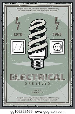 EPS Illustration - Electrical service vintage poster with