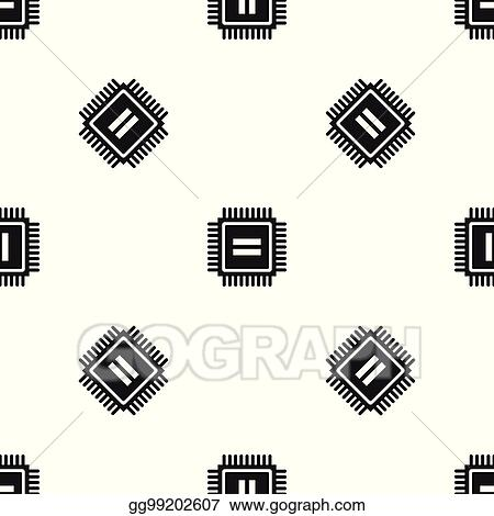 Vector Illustration Electronic Circuit Board Pattern