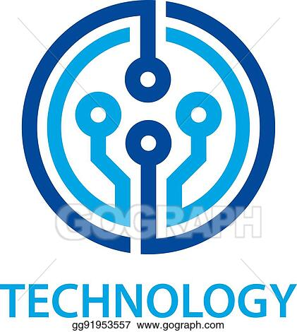 Vector Art - Electronic circuit board technology symbol. EPS clipart ...