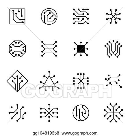 electronic computer chip circuit and motherboard equipment vector icons_gg104819358 computer motherboard wiring diagram symbols wiring diagram libraries