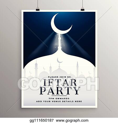 Vector Stock Elegant Invitation Template Of Iftar Party
