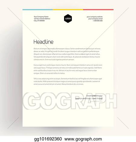 EPS Vector - Elegant letterhead template design in minimalist style ...