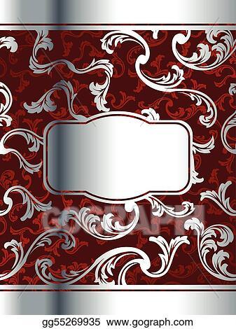 Vector Illustration Elegant Red Wine Label Template