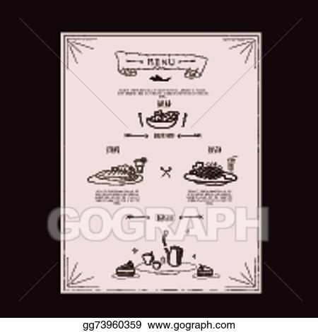 eps vector elegant restaurant menu design stock clipart