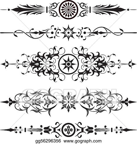 vector illustration element for design corner flower vector stock clip art gg56296356 gograph https www gograph com clipart license summary gg56296356