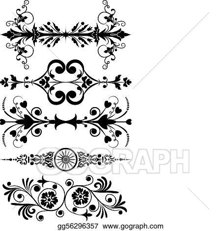 vector illustration element for design corner flower vector stock clip art gg56296357 gograph element for design corner flower