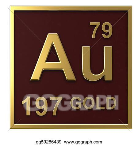 Stock illustrations element of the periodic table gold stock element of the periodic table gold urtaz Images