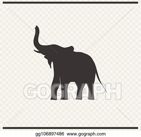 vector clipart elephant icon black color on transparent vector illustration gg106897486 gograph gograph