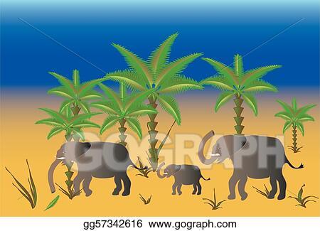 Elephant herd black silhouette - Download Free Vectors, Clipart Graphics &  Vector Art