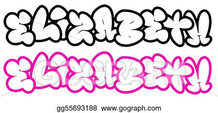 Stock Illustration Elizabeth In Funny Graffiti Fonts Clipart