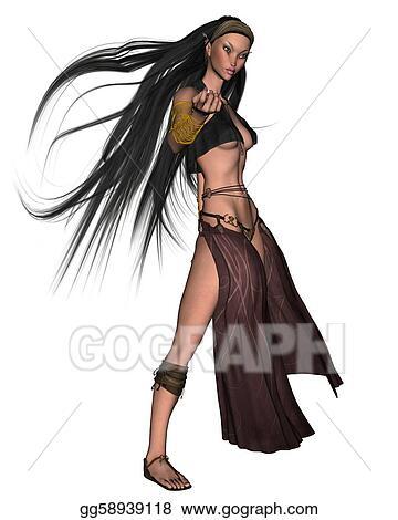 clipart elven sorceress 3 stock illustration gg58939118 gograph