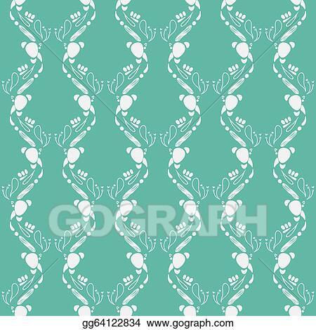 Vector Art Emerald Green Art Deco Pattern Eps Clipart