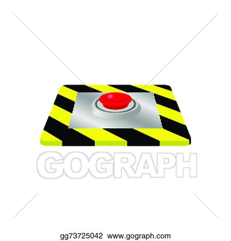 Eps Illustration Emergency Stop Button Vector Clipart Gg73725042
