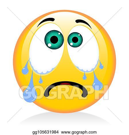 Stock Illustration Emoji Emoticon Crying Clipart Drawing