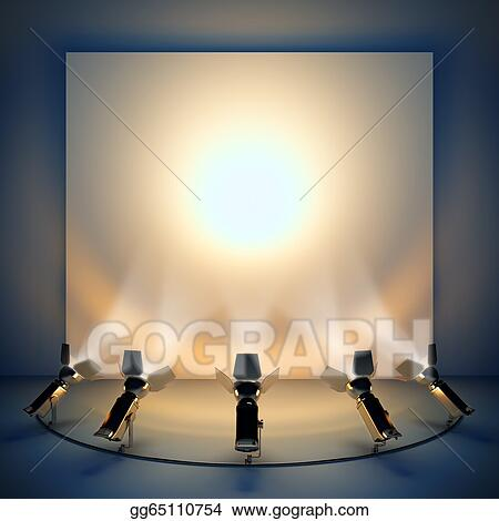 Empty Background With Stage Spotlight