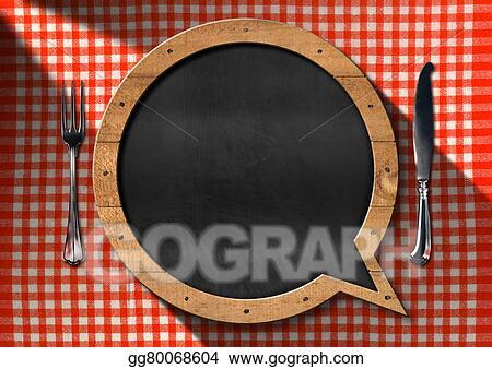stock illustration empty blackboard for a restaurant menu clipart