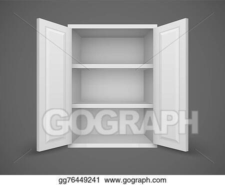 Eps Vector Empty Box With Open Doors