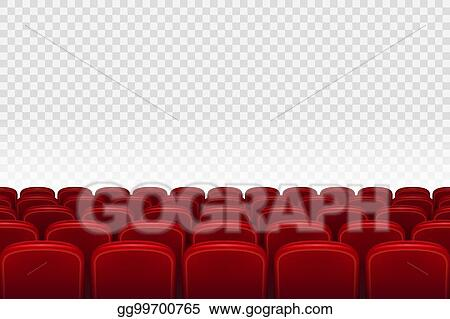 Vector Art Empty Movie Theater Auditorium With Red Seats Rows Of Red Cinema Movie Theater Seats On Transparent Background Vector Illustration Clipart Drawing Gg99700765 Gograph
