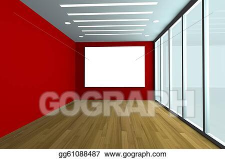 Stock Illustration - Empty office room. Clip Art gg61088487 - GoGraph