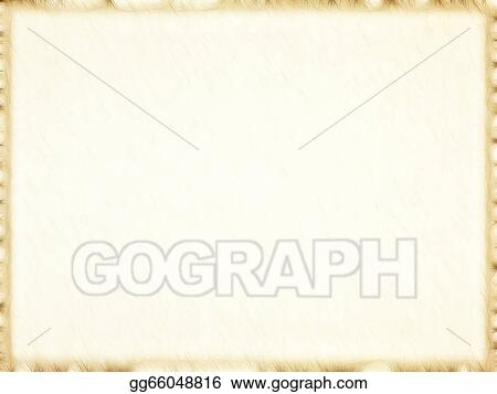stock illustrations empty old paper photo frame with dark border