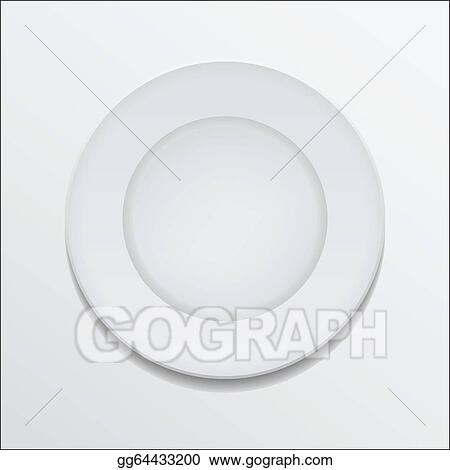 Eps Vector Empty Plate Stock Clipart Illustration Gg64433200