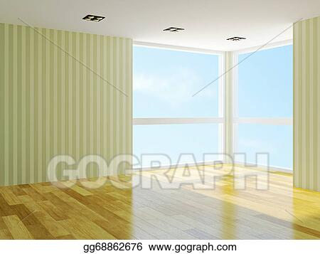 . Stock Illustration   Empty room   Clipart Drawing gg68862676   GoGraph