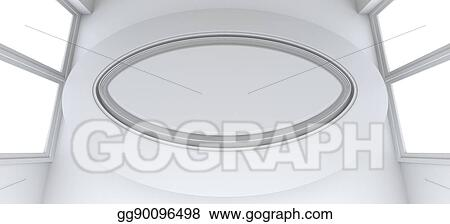 Astonishing Drawings Empty Showroom With Circle Table For Exhibit Download Free Architecture Designs Scobabritishbridgeorg