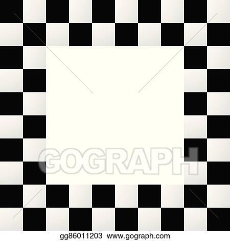 Vector Stock Empty Squarish Checkered Frame Border Stock Clip