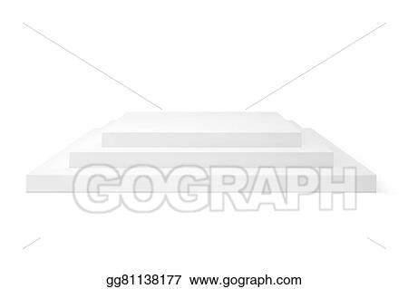 Empty Stage Studio Vector Isolated On White Background