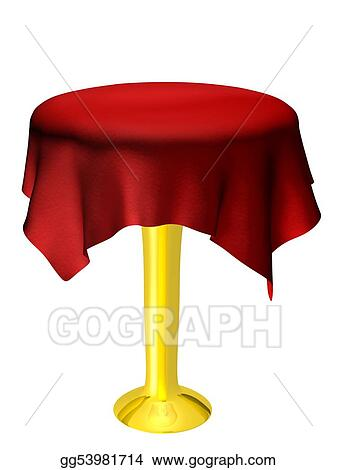 stock illustrations empty table with red tablecloth stock clipart rh gograph com Table Setting Clip Art picnic tablecloth clip art