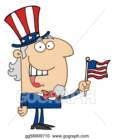 vector clipart energetic uncle sam smiling vector illustration rh gograph com Uncle Sam Drawing Uncle Sam Poster