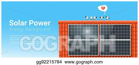 Vector Clipart - Energy concept background with solar panel