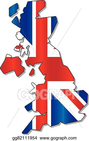 Map Of England Drawing.Vector Art England Flag Map Clipart Drawing Gg82111954 Gograph