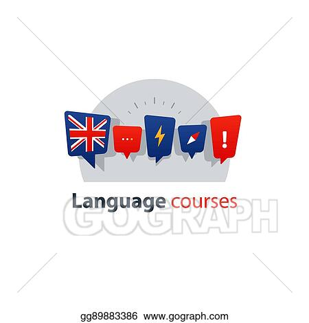 EPS Vector - English language courses advertising concept