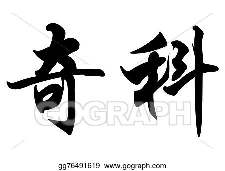 Drawing - English name chico in chinese calligraphy characters
