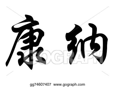 Drawings - English name connor or conor in chinese calligraphy