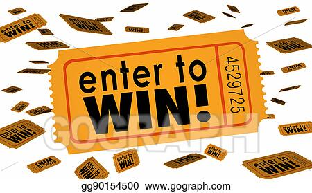 clip art enter to win contest raffle lottery ticket words lucky 3d rh gograph com red raffle ticket clipart raffle ticket clipart black and white