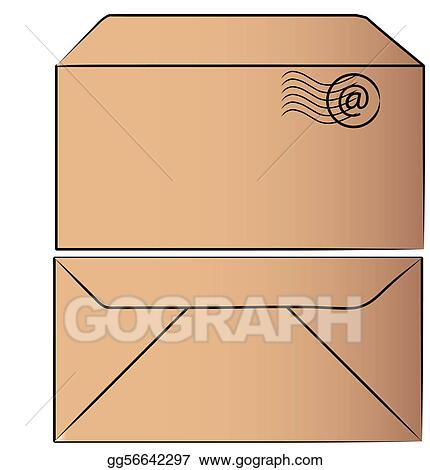 Stock Illustration Envelope Stuffed With Letter Clipart