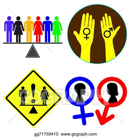 Vector Clipart Equal Rights Vector Illustration Gg71759410 Gograph
