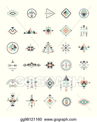 Vector Art Esoteric Alchemy Sacred Geometry Tribal And Aztec