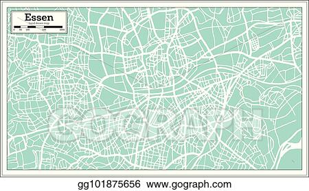 Map Of Germany Essen.Vector Illustration Essen Germany City Map In Retro Style Outline