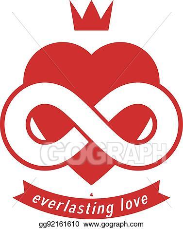 Clip Art Vector Eternal Love Conceptual Sign Vector Symbol
