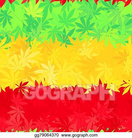 Vector Art - Ethiopia flag seamless pattern. jamaica reggae music ...